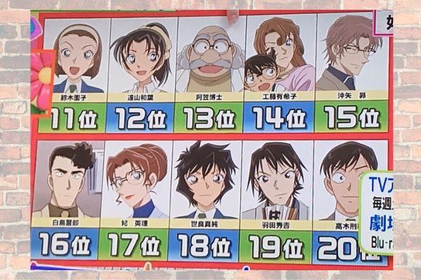 【ヒルナンデス】名探偵コナンランキング11-20