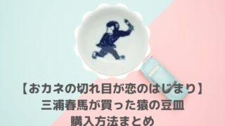 カネ恋・三浦春馬が買った猿の豆皿は楽天で購入!店舗はどこで買えるの?